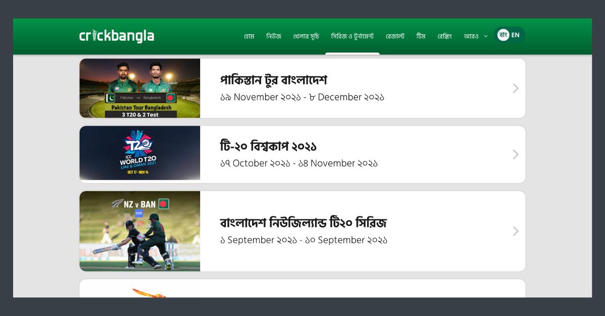 Cricket ranking